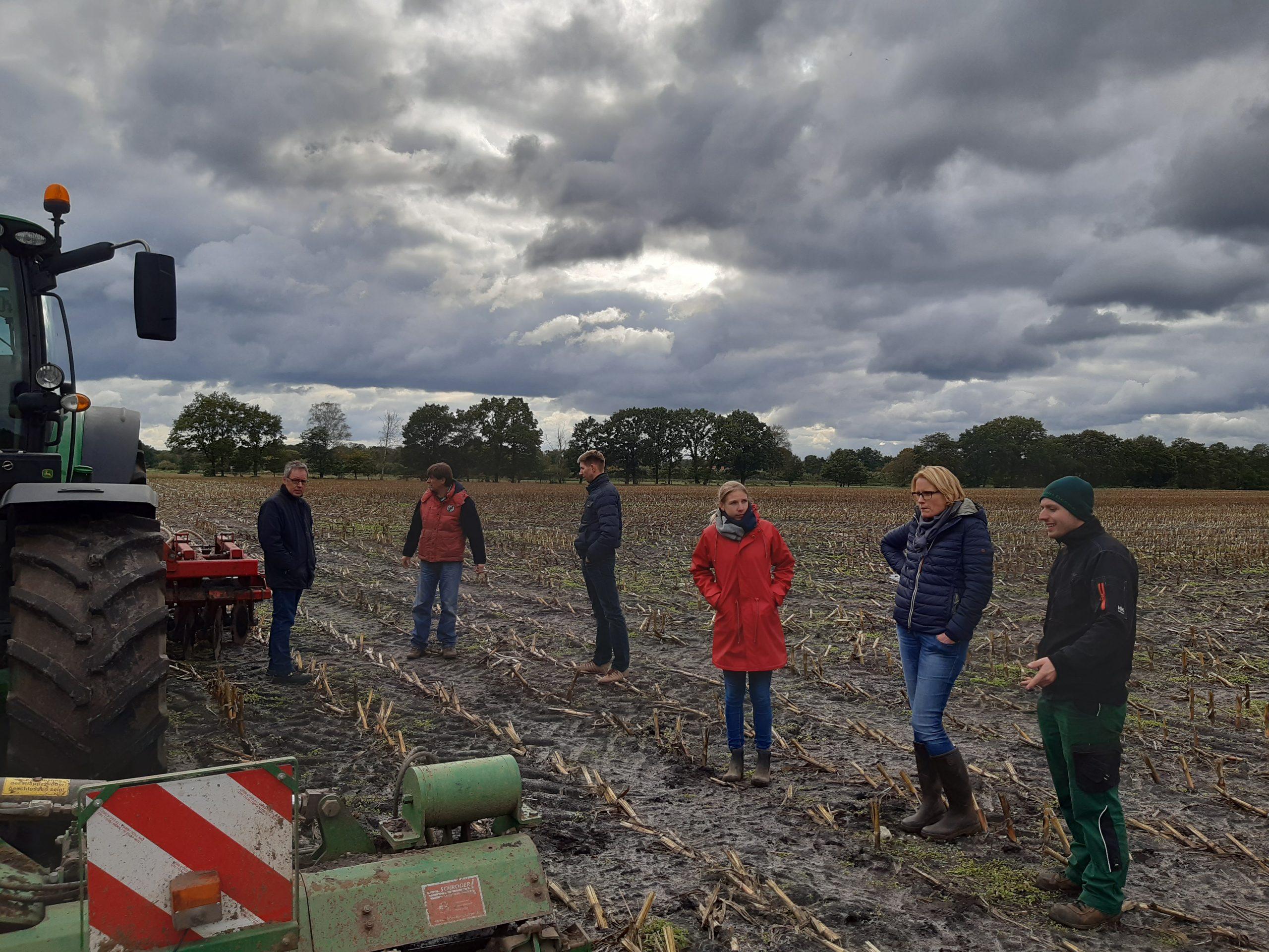 Treffen der Betriebsleiter Harms • Hencken mit Ackerbauberater*innen 14.10.2020, Foto: KÖN